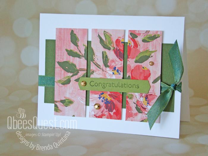 Fine Art Floral Tri Panel Card