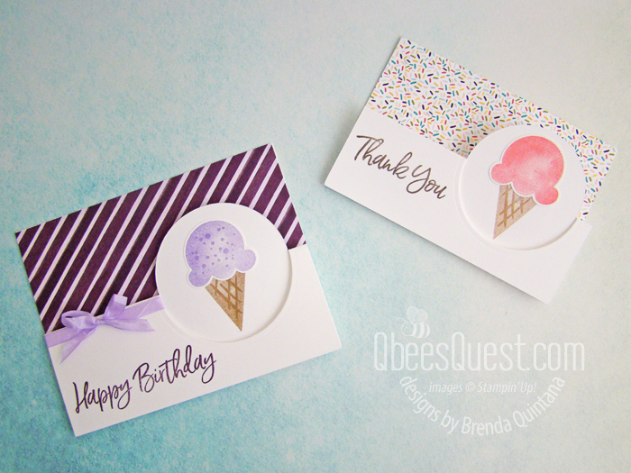 Stampin' Up Sweet Ice Cream Flip Cards