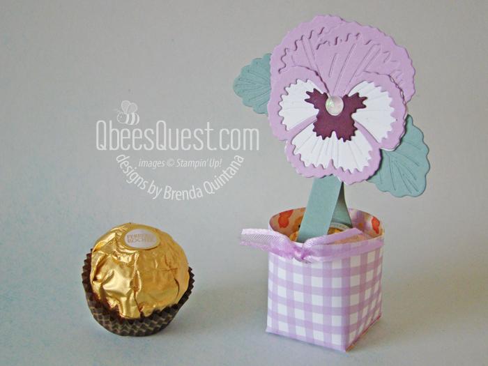 Ferrero Rocher Pansy Pot