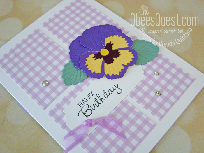 Stampin' Up Pansy Patch Birthday Card