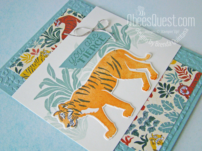 Stampin' Up Wild Cats Card