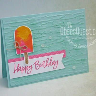 Heat Wave Popsicle Card