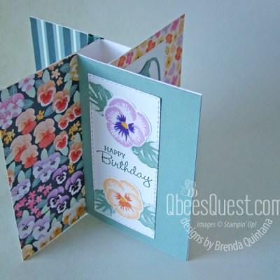 Stampin' Up Pansy Patch Pinwheel Card