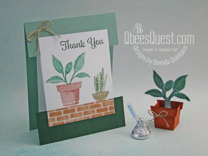 Hershey's Kiss Potted Plant & Plentiful Plants Split Card