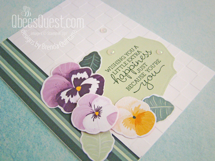 Stampin' Up Pansy Patch Card