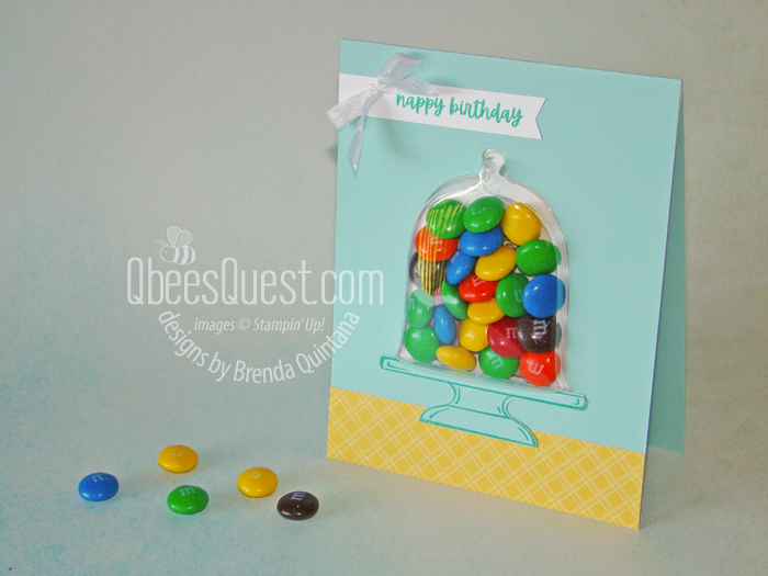 M&Ms Candy Dispenser Birthday Card