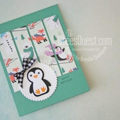 Stampin' Up Penguin Place Birthday Card