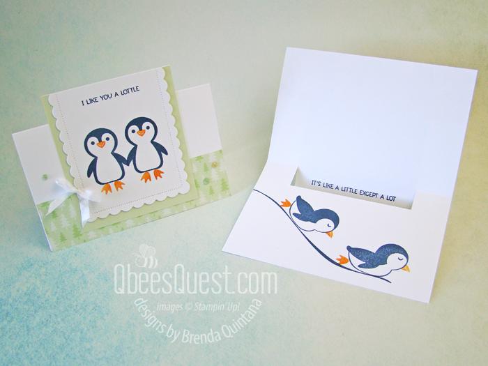 Stampin' Up Penguin Place Flip Card