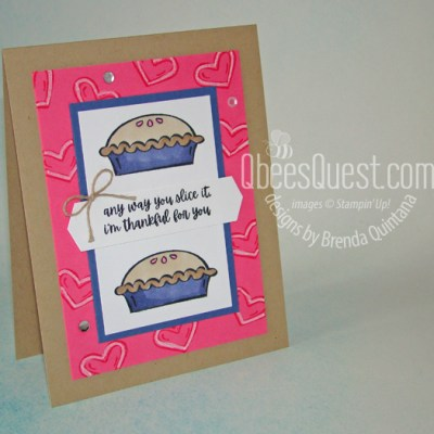 Stampin' Up Sweet Pie Thank You Card