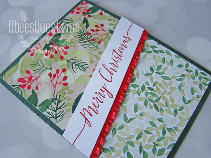 Stampin' Up Heartfelt Wishes Slanted Card