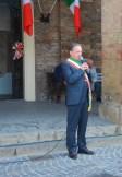 il sindaco Luigi Cerioni in occasione delle celebrazioni del 25 aprile