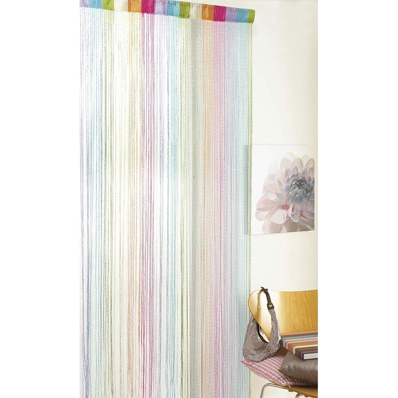 multi colour silver string door curtain 90 x 200cm
