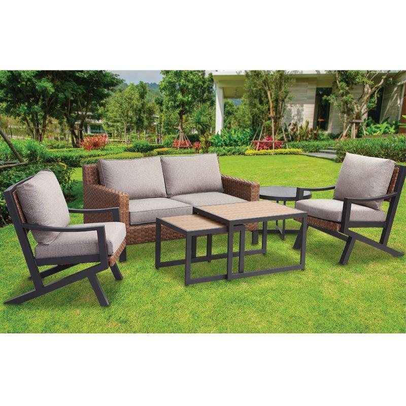 arezzo conservatory garden patio furniture set 6 pieces