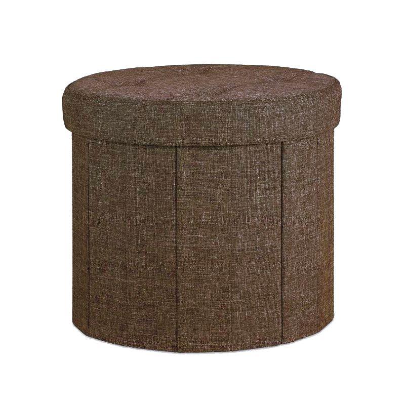 brown round ottoman 39cm