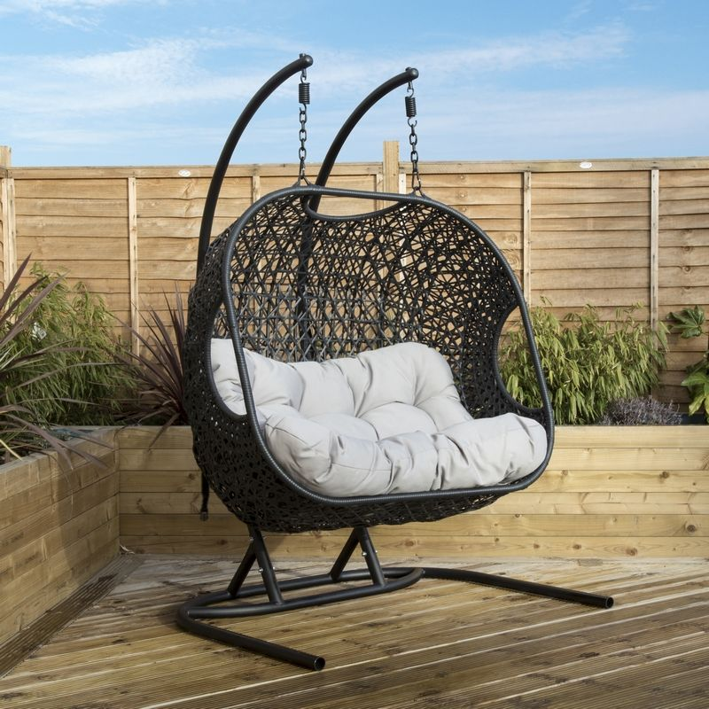 Rattan Double Garden Swing Chair Buy Online At Qd Stores