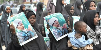 Shiites protest for Zakzaky