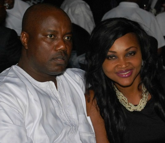 Mercy Aigbe and husband Lanre Gentry