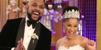Banky W and Adesua Etomi in The Wedding Party