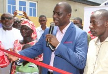Airtel CEO Segun Ogunsanya and director of corporate communinactios and CSR Emeka Oparah at the presentation of the house to the