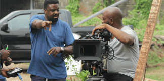 Kunle Afolayan on location