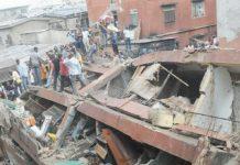 Collapsed building in Lagos