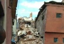 Building collapse at Agarawu Street, Lagos Island