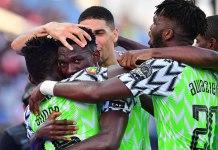 Super Eagles celebrate