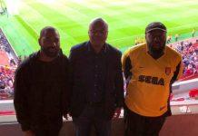 Bukola Saraki and sons at Emirates Stadium
