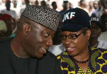Kayode Fayemi and wife, Bisi