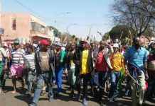 Protesters in South Africa xenophobia