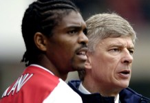 Nwankwo Kanu and Arsene Wenger Arsenal