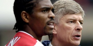 Nwankwo Kanu and Arsene Wenger Arsenal