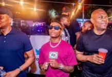 Tony Elumelu and Wizkid at UBA, REDTV Rave