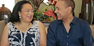 Ben Murray-Bruce and wife
