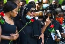 Khafi Kareem and family at brother funeral