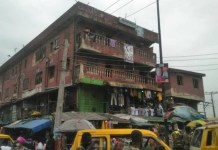 Distressed and dilapidated buiding in Oshodi