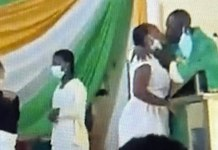 Anglican priest Obeng Larbi kisses student in Ghana