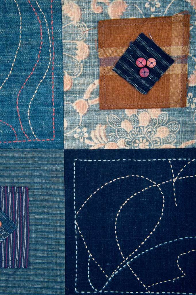 Detail of One Thing Leads to Another: Sashiko Tiles © Susan Ball Faeder