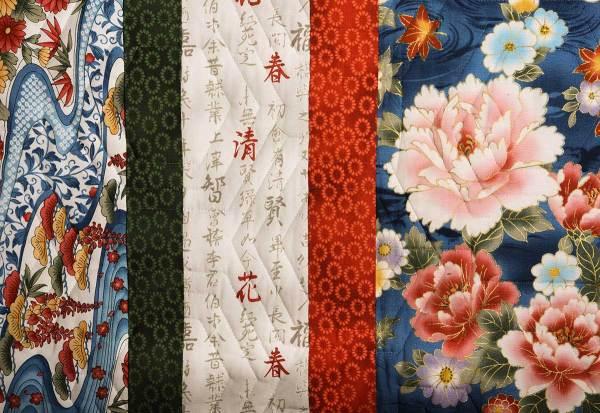 Detail of Multi-Color Showcase Quilt © Susan Ball Faeder