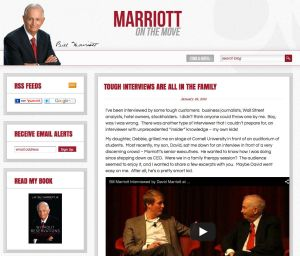 "Bill Marriott's Blog - ""On the Move"""