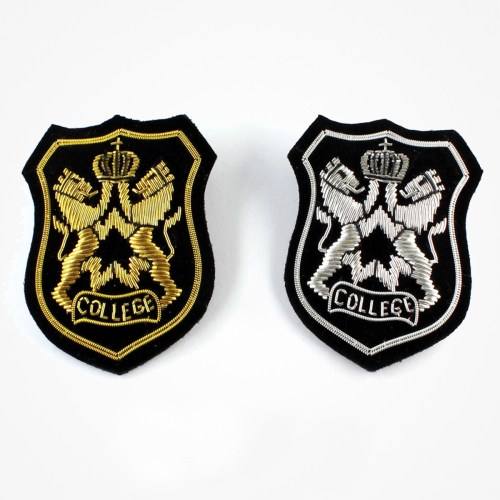 college blazer pocket embroidered patches - sew-on