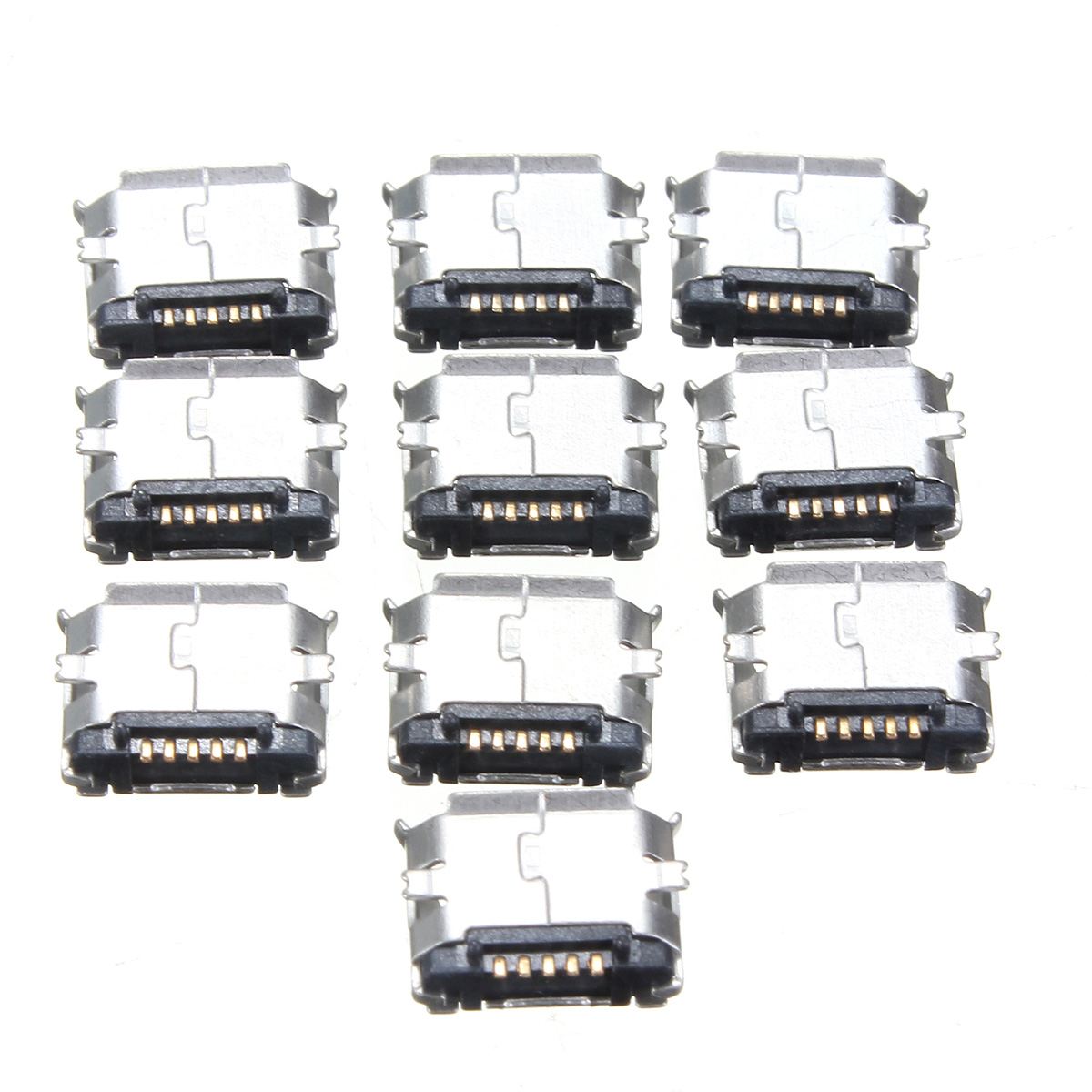 New 10pcs Usb Type B 90 Degrees Dip Female Socket Pcb Solder Connectors 4pins