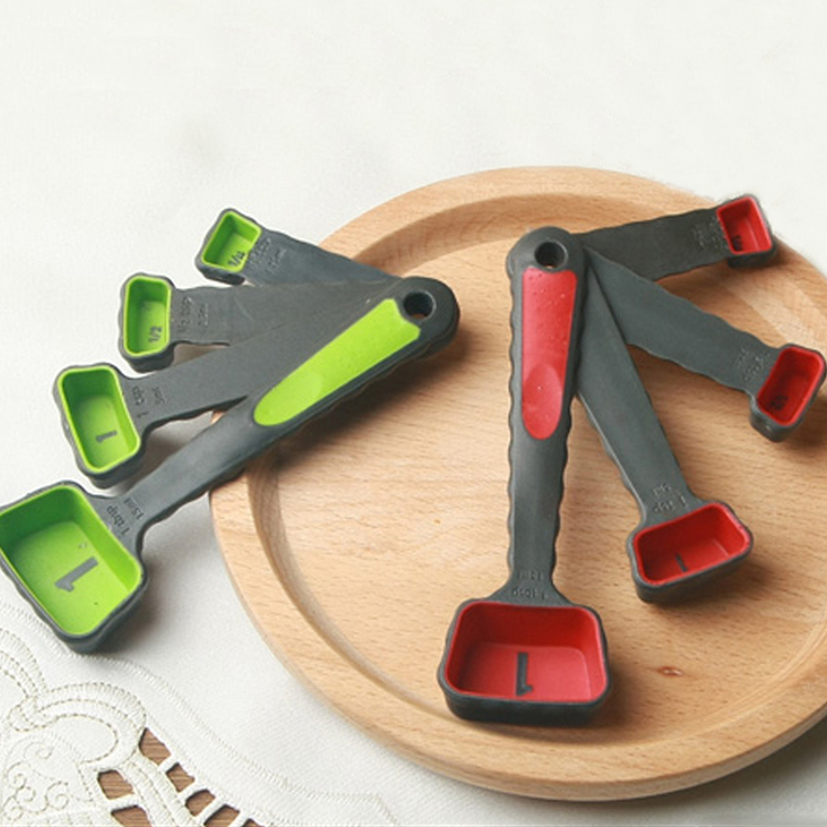 4 Pcs Silicone Measuring Cups Set Spoon Kitchen Tool