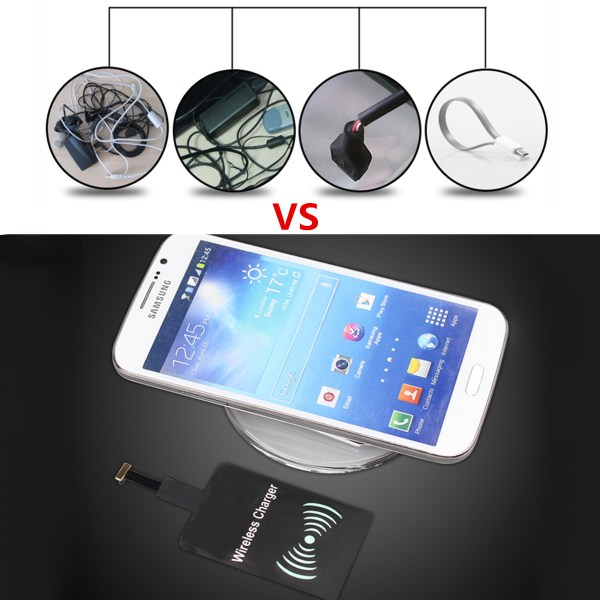Universal Mirco USB C Qi Wireless Charging Receiver Module ...