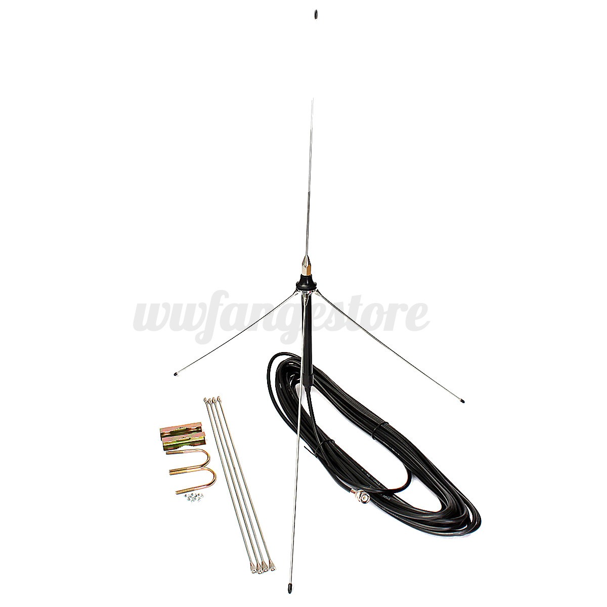15m Cable Powerful 1 4 Wavelength Gp Antenna Set For 0 5