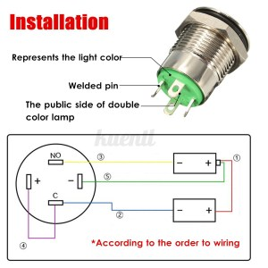 95mm 12V LED Power Momentary Push Button Switch For Car