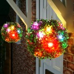 Colorful Led Solar Powered Topiary Ball Light Home Outdoor Garden Hanging Ebay