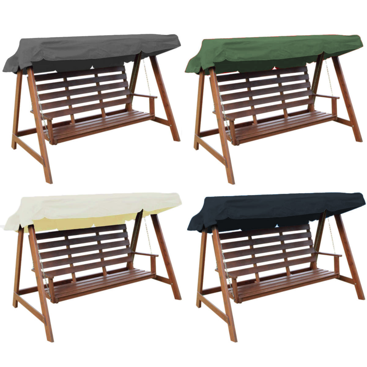 3 Seater Replacement Canopy Spare Cover For Garden Swing