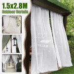 Curtain Panel Wedding Bathroom Outdoor Garden Mosquito Netting Polyester White Ebay