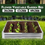 Raised Garden Bed Metal Patio Backyard Flower Vegetable Planter Basket Box 4x4ft